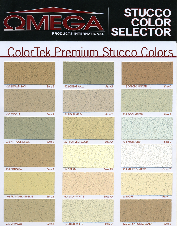 Stucco Colors Samples Images Galleries With A Bite